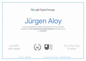 Zertifizierung Webdesign Google Digital Garage